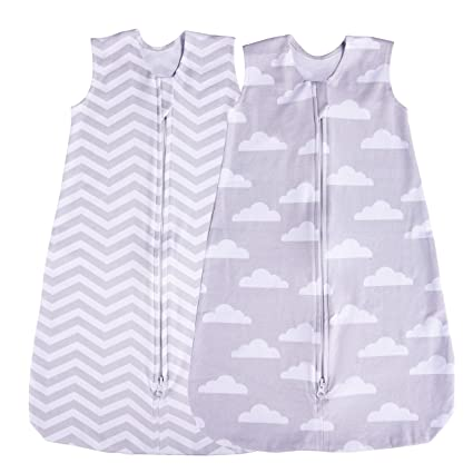 Pink Ditsy Bird in Cage, 0-6 Months Bebe Bobito Sleeping Bags 2.5 Tog Soft Cotton Jersey
