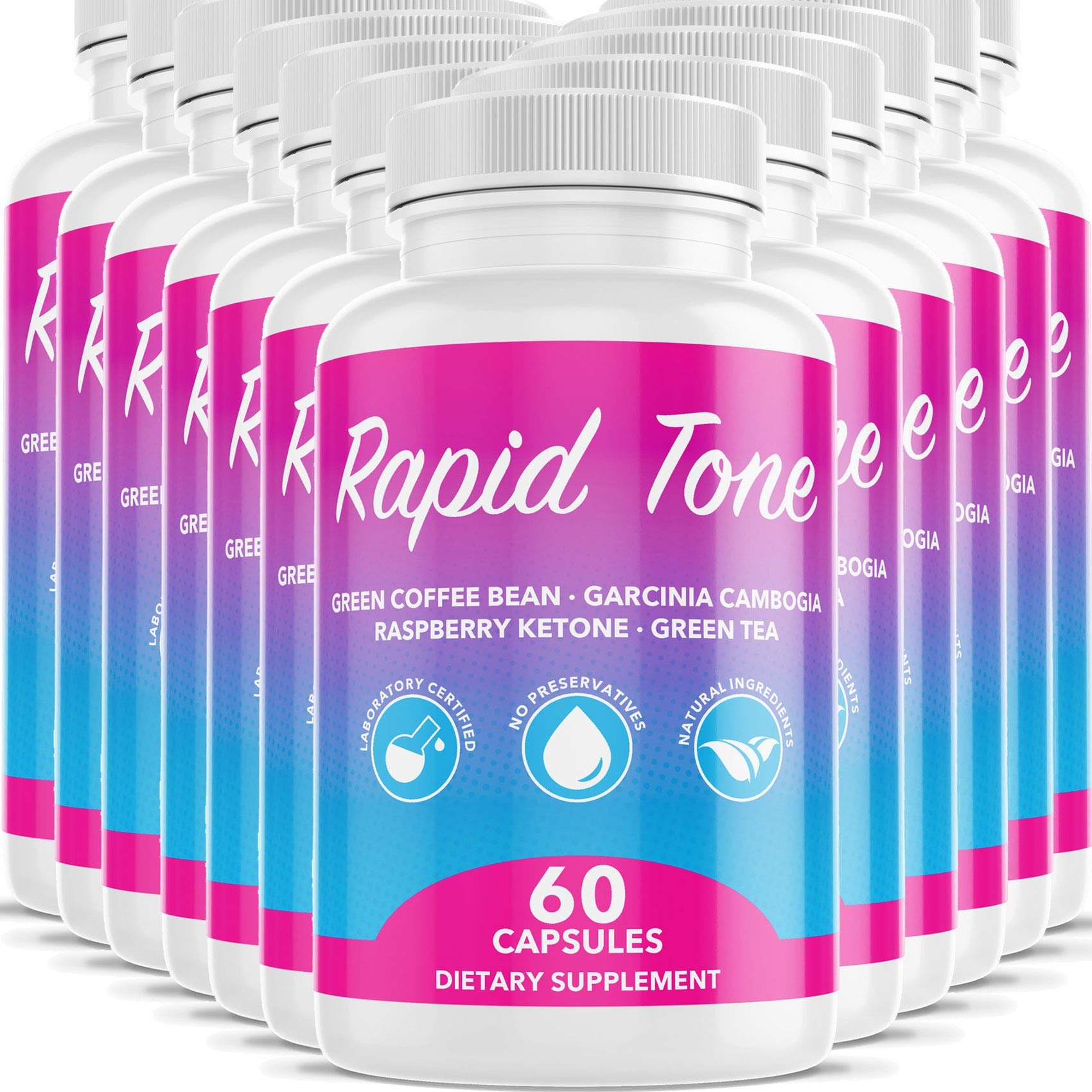 Rapid Tone Weight Loss Pills Supplement - Burn Fat Quicker - Carb Blocker, Appetite Suppressant, Fat Burner - Natural Thermogenic Extreme Diet Fast WeightLoss for Women Men (12 Month Supply) by Rapid Tone