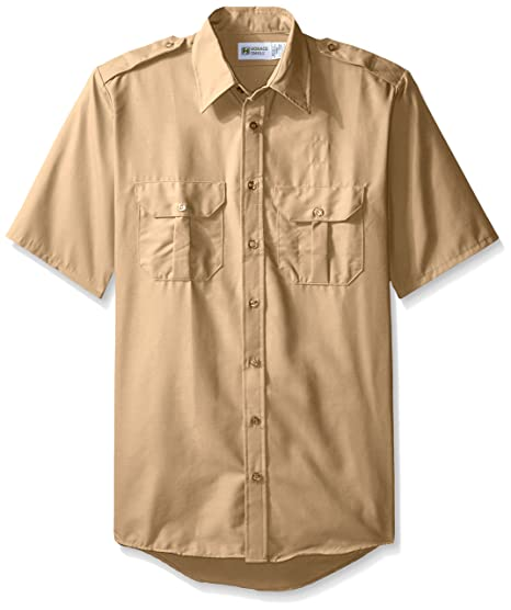 a01962c3e8b Amazon.com  Horace Small Men s Classic Short Sleeve Security Big-Tall  Shirt  Clothing