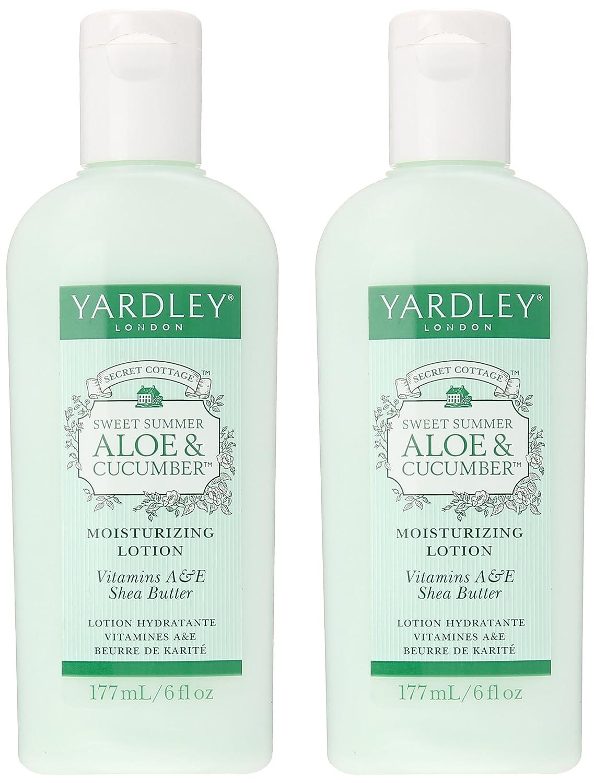 Amazon.com : Yardley Sweet Summer Aloe & Cucumber Moisturizing Lotion 6 Fl. Oz. (2 Pack) : Beauty