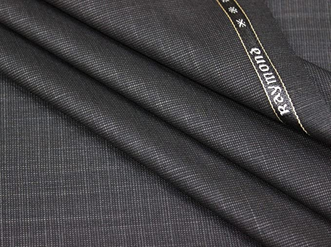 45e875bd587 Image Unavailable. Image not available for. Colour  Raymond Men s Poly  Viscose Unstitched Trouser Fabric (Greyish Black ...