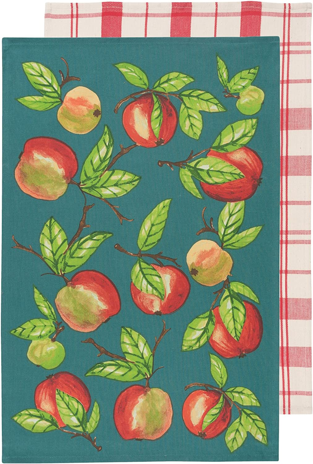 Now Designs 2232053 Kitchen Dishtowels, Set of Two, Apple Orchard, 2 Piece