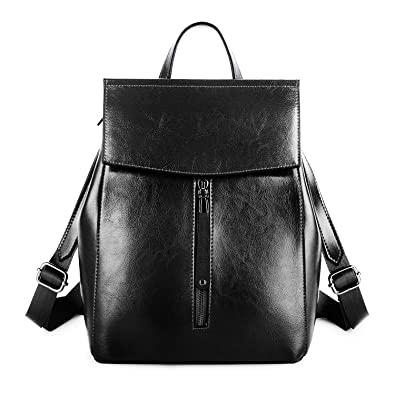 YALUXE Genuine Leather Fashion Women s Backpack for Women Handbag School Bag  Shoulder Bag Tote for Women 95a23e40da196