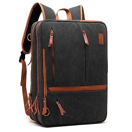 87d642c8d3 CoolBELL Convertible Messenger Bag Backpack Shoulder Bag Laptop Case  Handbag Business Briefcase Multi-Functional Travel