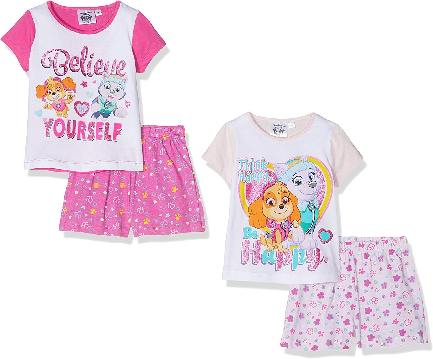 Nickelodeon Girls Paw Patrol Pyjama Sets