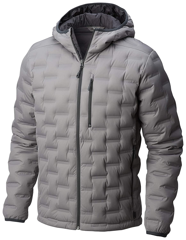 Manta Grey Medium Mountain Hardwear StretchDown DS Hooded Jacket  Men's