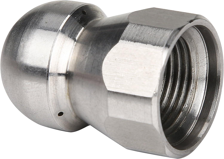 Nez de Bouton 1//10,2/cm Femelle 4.0/Orifice 4000/Psi 1//4 Tool Daily Outil Quotidien /Égouts Fixe en Acier Inoxydable Buse /à Jet