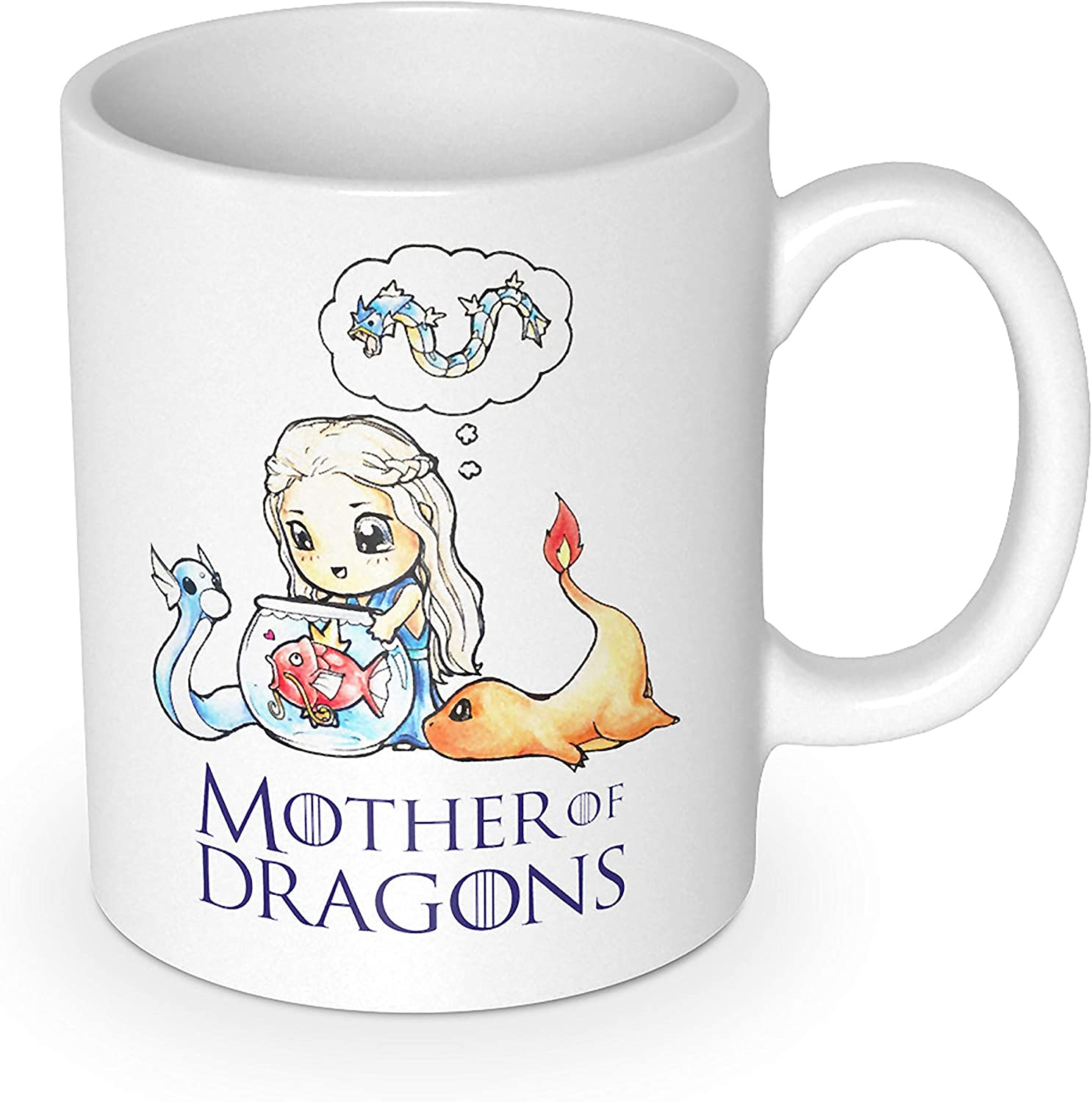 Amazon Com Getdigital Mother Of Dragons Mug Coffee Cup For Geeks And Anime Lovers 10 Oz 300 Ml Kitchen Dining
