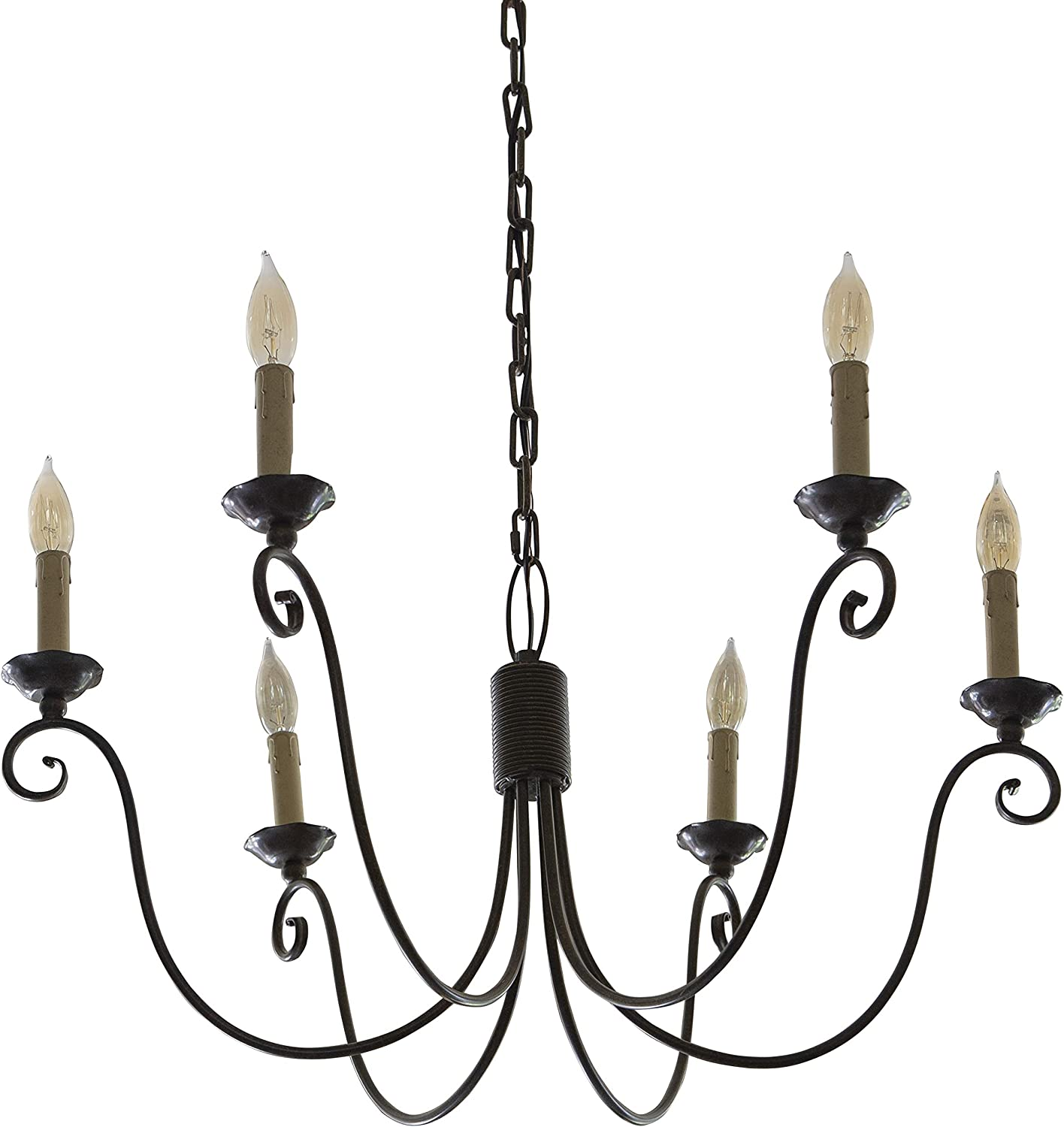 Decor Therapy CH1411 Chandelier, Measures 26.3x29.5x16.3, Scavo Rust