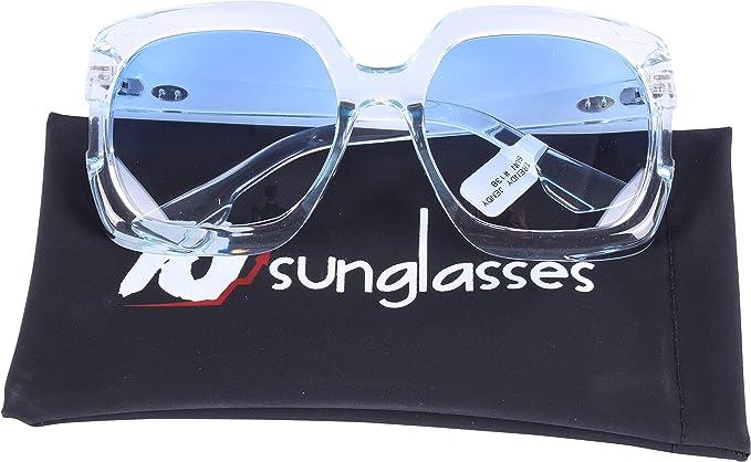 4e78a4f000 TJsunglasses Oversized Vintage Fashion Designer Women Sunglasses (blue