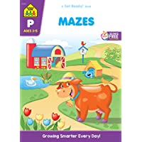 School Zone - Mazes Workbook - Ages 3 to 5, Preschool to Kindergarten, Maze Puzzles, Wide Paths, Colorful Pictures…