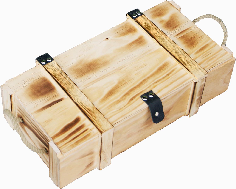 Kisten Holz 2er Set Geschenkschatullen 0,8 /& 1,3 Liter Aufbewahrungskiste Natur