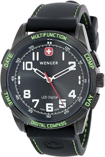 Amazon.com: Wenger de los hombres LED Nomad Brújula Reloj ...