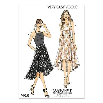Vogue Patterns Schnittmuster Kleid, Mehrfarbig, Größen 6–14: Amazon ...