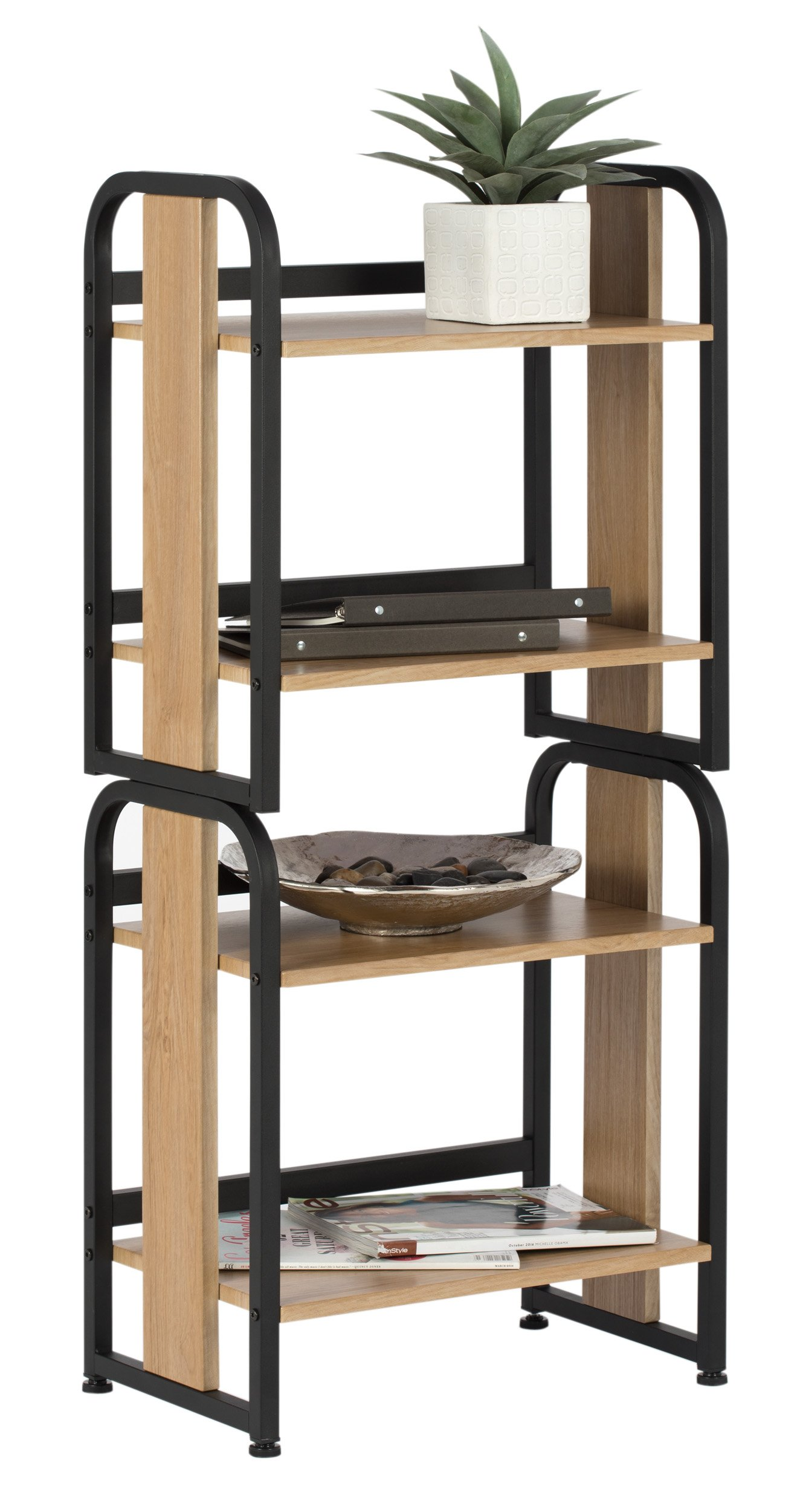 Calico Designs 51249 Modern Ashwood Stackable Bookshelf, Graphite Ashwood by Calico Designs (Image #6)