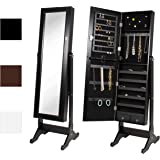 Amazon.com: White Mirrored Jewelry Cabinet Armoire W Stand