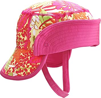422eaa90e Amazon.com: Coolibar UPF 50+ Baby Sun Bucket Hat - Sun Protective (2T-3T-  Pink Tropical Floral): Beauty