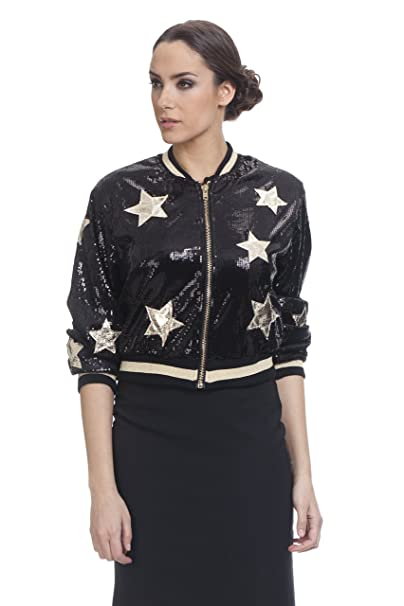 TANTRA Jacket3060, Chaqueta Bomber para Mujer, Negro, Large (Tamaño del Fabricante: