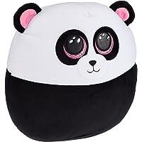 TY - Squish a Boos kussen, motief Parijs der Panda, 40 cm, wit/zwart