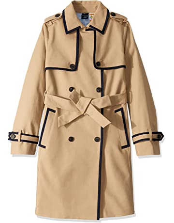 90413be1c181bc Tommy Hilfiger Women s Adaptive Long Trench with a Velcro Brand Closure Belt
