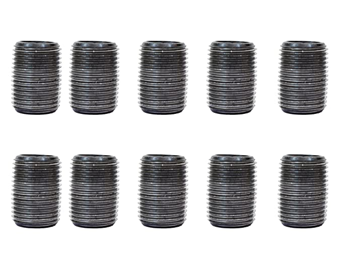 Fits Half Inch Black Threaded Pipe Nipples and Fittings 10 Pack 10, 1//2 x 4 Malleable Cast Iron Pipe Nipple for Vintage DIY Furniture Home Pipe Decor CMI Inc 1//2 x 4 Industrial Black Pipe