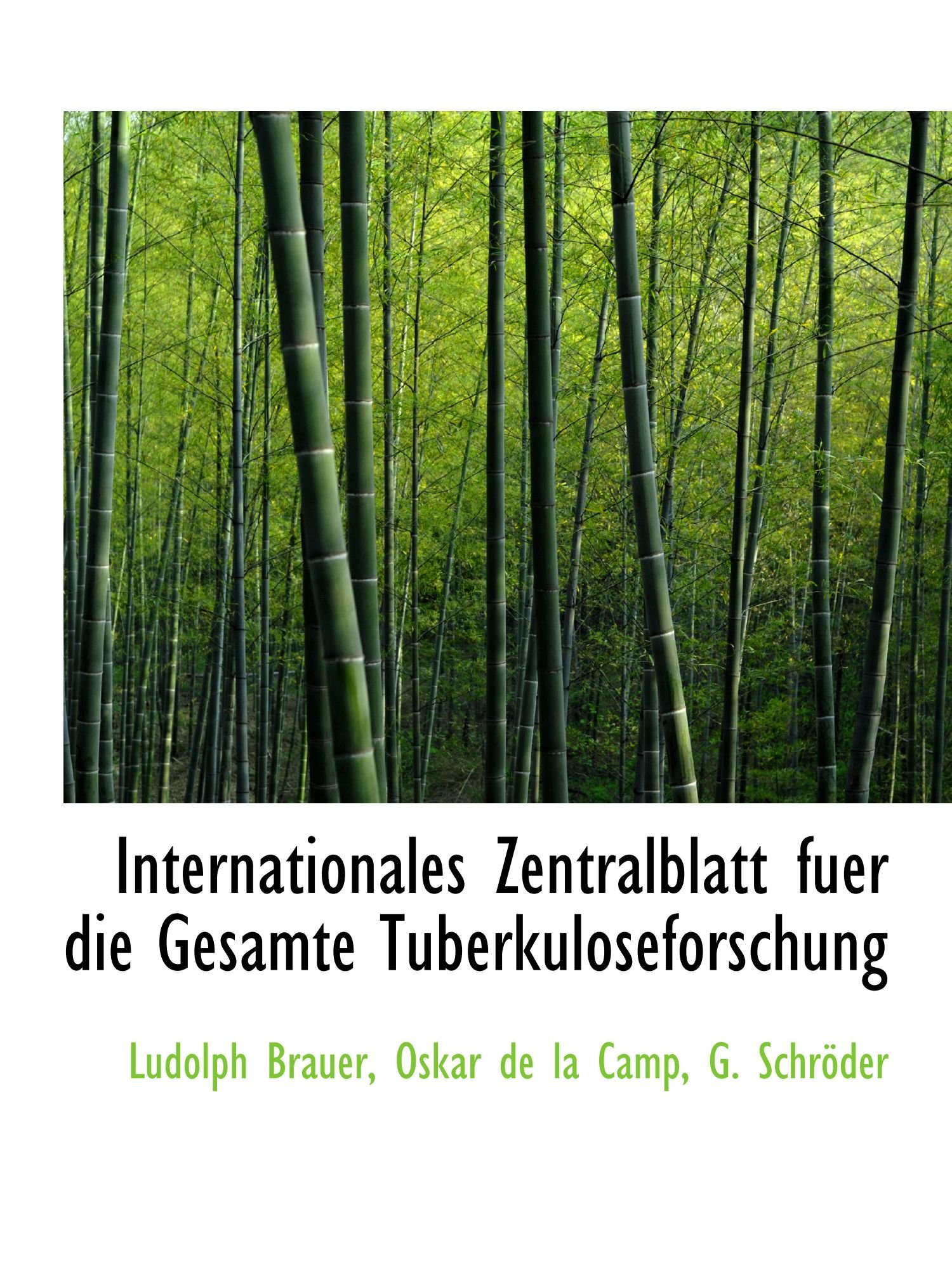 Download Internationales Zentralblatt fuer die Gesamte Tuberkuloseforschung PDF
