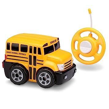 Amazon Com Kid Galaxy My First Rc School Bus Toddler Remote