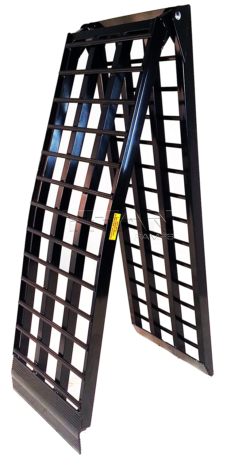 Titan 10' HD Wide 4-Beam Truck Loading Ramp for Motorcycle Harley Cruiser 1500 lb Capacity Titan Ramps
