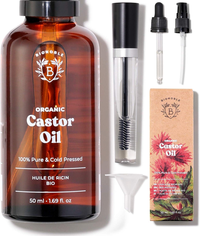kit mascara huile de ricin cils bionoble