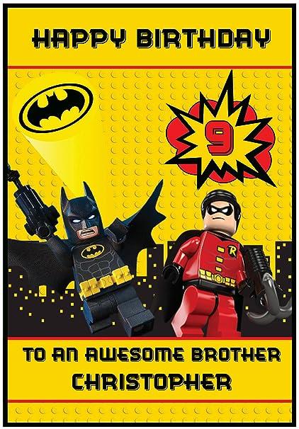 Personalizado Batman Lego inspirado en tarjeta de ...