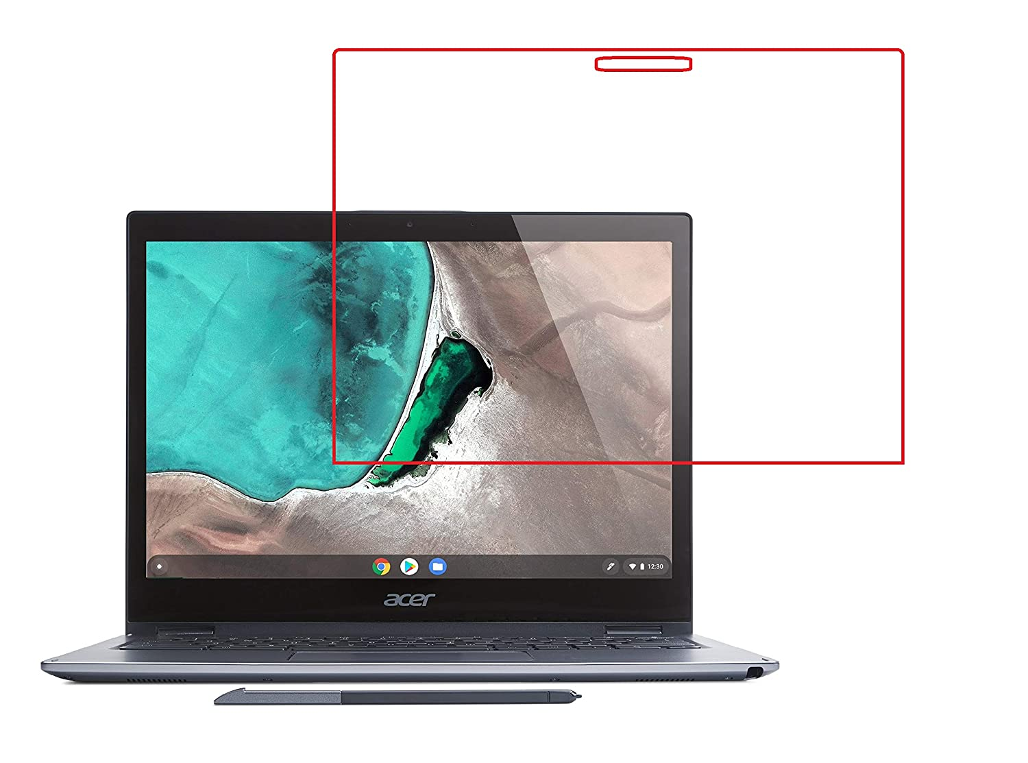 """2-in-1 CP713 Anti-Glare Screen Protector Filter 13.5/"""" Acer Chromebook Spin 13"""