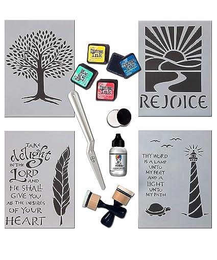 Amazon com: G T  Luscombe Company, Inc Inspired Stencils
