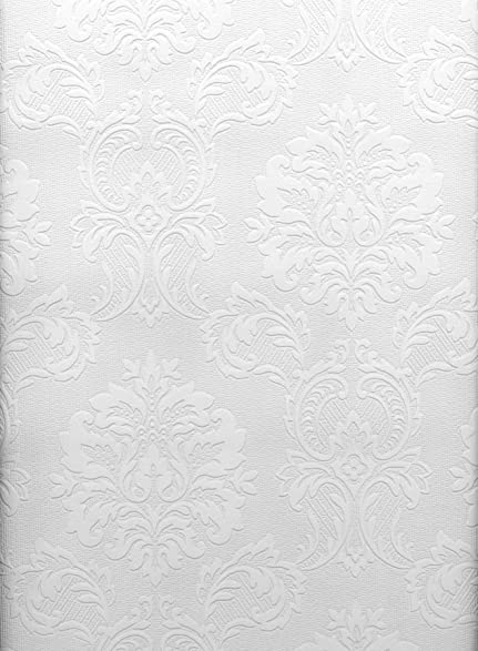 brewster paintable solutions iii damask paintable wallpaper 205inch by 396