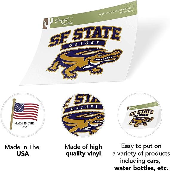 San Francisco State University SFSU Gators NCAA Vinyl Decal Laptop Water Bottle Car Scrapbook Sticker - 00061A