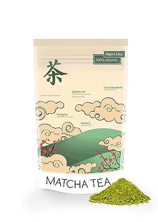 Matcha Té Verde Polvo 80g para batidos, hornear, cocinar y ...