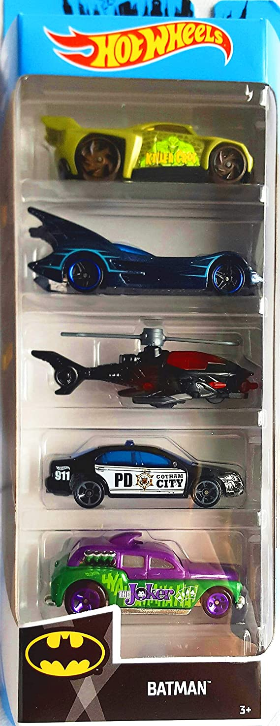 Hot Wheels 2019 Batman 1:64 Scaled 5-Pack