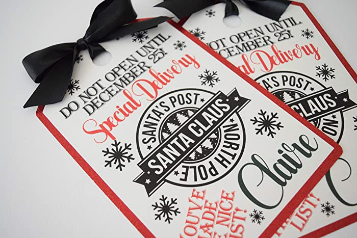 Christmas Tags.Amazon Com Christmas Tags Santa Tags From Santa Tags
