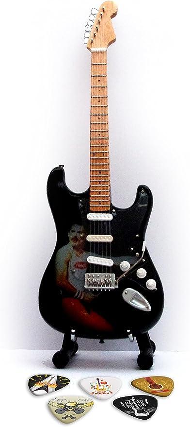 Queen Freddie Mercury Réplica en miniatura de guitarra y púas ...