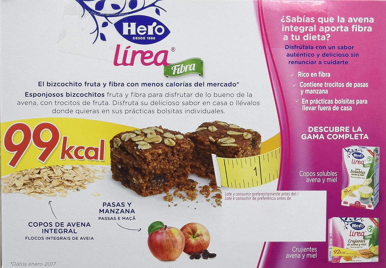 Hero Muesly Línea Bizcochito Fruta y Fibra - 8 Paquetes de 6 x 32.50 gr - Total: 1560 gr: Amazon.es: Alimentación y bebidas