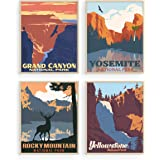 Vintage National Park Posters Set - By Haus and Hues | National Parks Art Prints Nature Wall Art and Mountain Print Set Abstr
