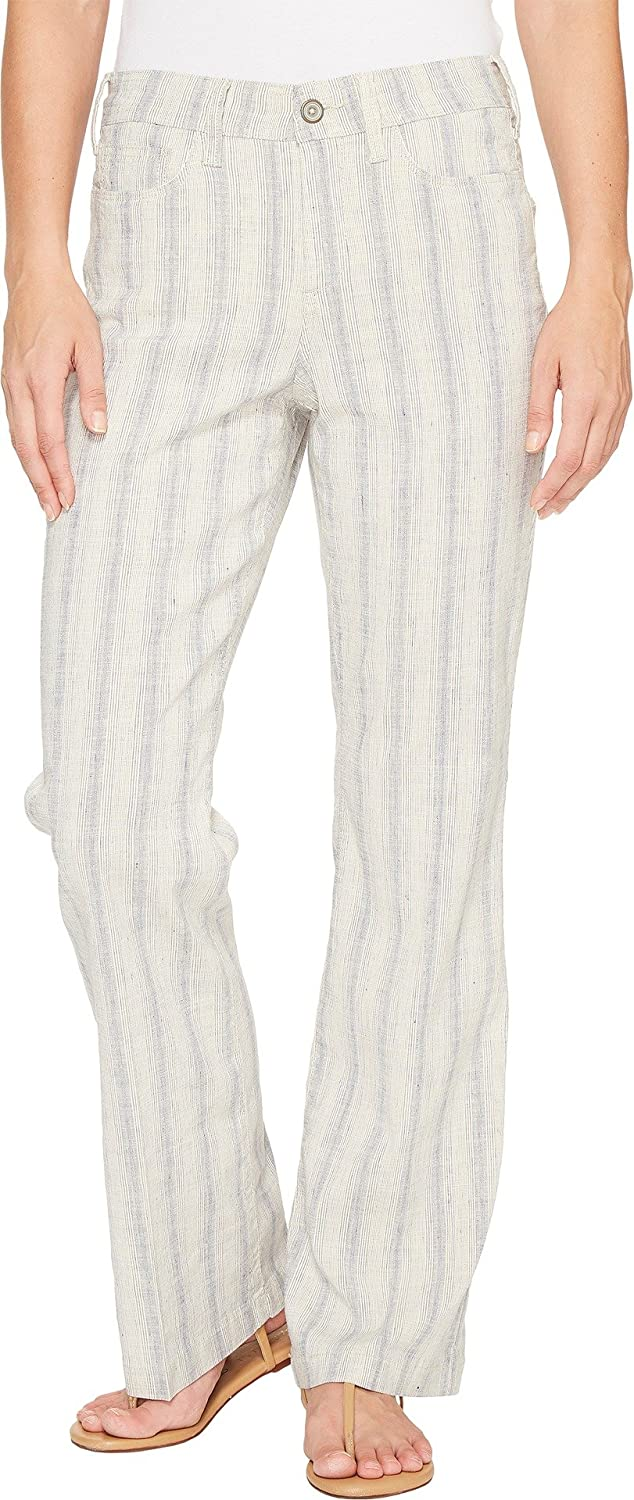 e06075441f5 NYDJ Women s Wylie Trouser in Striped Linen Cap D Antibes Indigo Natural  Jeans at Amazon Women s Clothing store