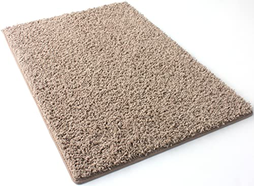 3 X5 Oval Pecan Brown Frieze Shag Indoor Area Rug Carpet. Soft and Plush 32 oz 3 4 Thick Frieze Indoor Area Rug