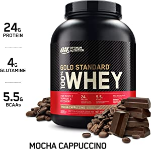 Optimum Nutrition Gold Standard 100% Whey Protein Powder, Mocha Cappuccino, 5 Pound (Packaging May Vary)
