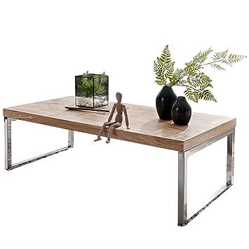 Wohnling Couchtisch Massiv Holz Akazie 120 Cm Breit Wohnzimmer Tisch