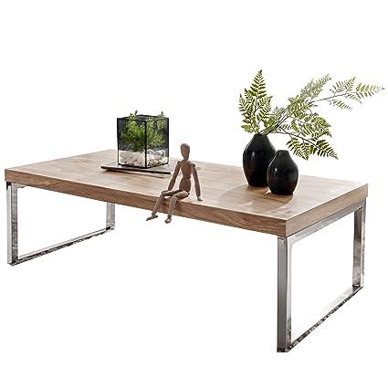 FineBuy Massiver Couchtisch Java 120 x 60 x 40 cm Akazie Massiv Holz ...