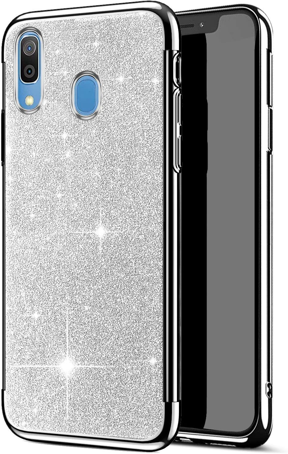 Saceebe Compatible Samsung Galaxy A50 Rose Gold