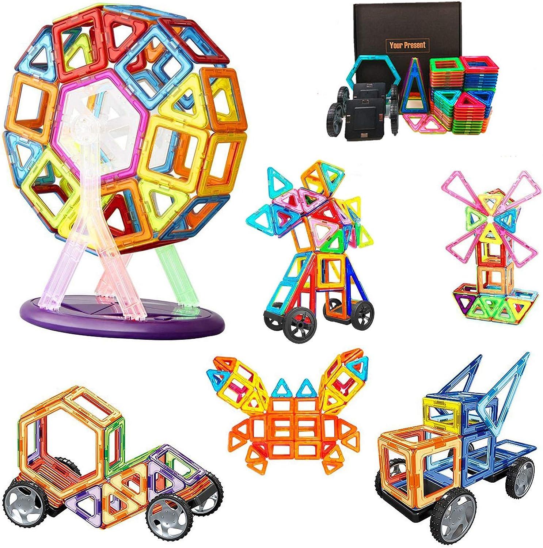 Morkka Bloques de construcción de Bloques magnéticos de 64 Piezas Juegos educativos para niños, de Morcare Construction Building Sets (82 pcs)