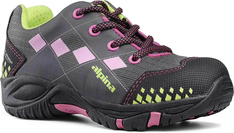 alpina Lenny 6403-1K grau//pink M/ädchen-Kinder Trekking- /& Wanderhalbschuhe Freizeitschuh