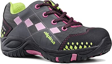 alpina Botas de senderismo para ni/ña en color rosa y gris con suela antideslizante