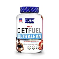 USN Diet Fuel Ultralean Weight Control Meal Replacement Shake Powder, Strawberry Cream, 2 kg